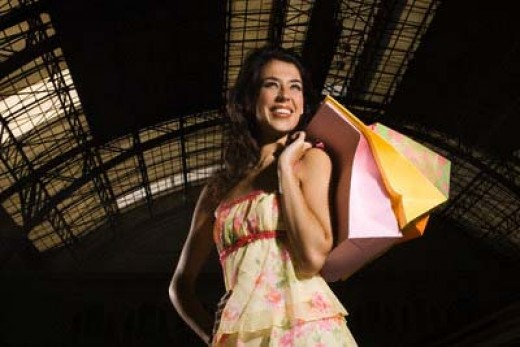 This woman managed to find cute clothes when shopping in an aircraft hangar...