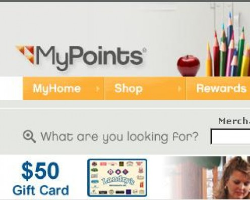 Earn Points with MyPoints then Redeem for Rewards