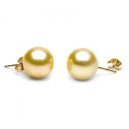 South Sea golden pearl earrings