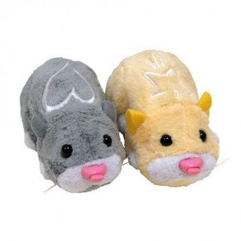 These zhu zhu pet hamsters need something to play with