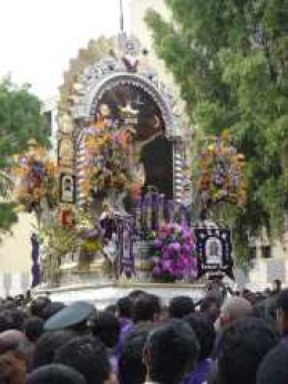 Senor de los Milagros (Lord of the Miracles) procession in Lima