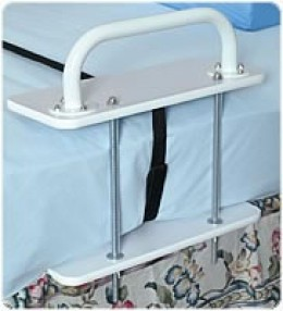 This is a grab bar system that attaches to the mattress, making standing easier.