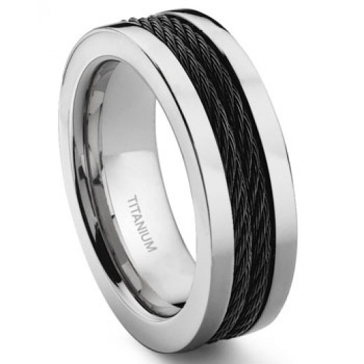 Breaking With Tradition Black Titanium Wedding Bands