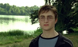 Daniel Radcliffe as Harry Potter in a scene from Harry Potter and the Order of the Phoenix movie