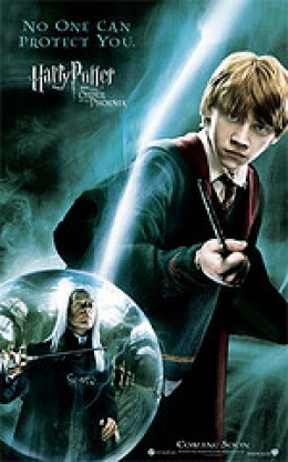Harry Potter and the Order of the Phoenix promotional poster featuring Ron Weasley (Rupert Grint)