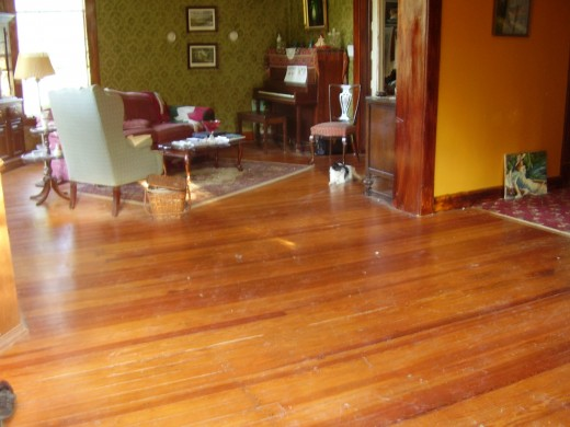 a 100 year old heart pine floor restored