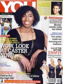 "Caster Semenya in a new role – as ""glamour girl""?"