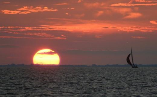 Lake St. Clair Sunset  deedsphoto