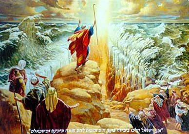 the Moses with his stick, split the sea.