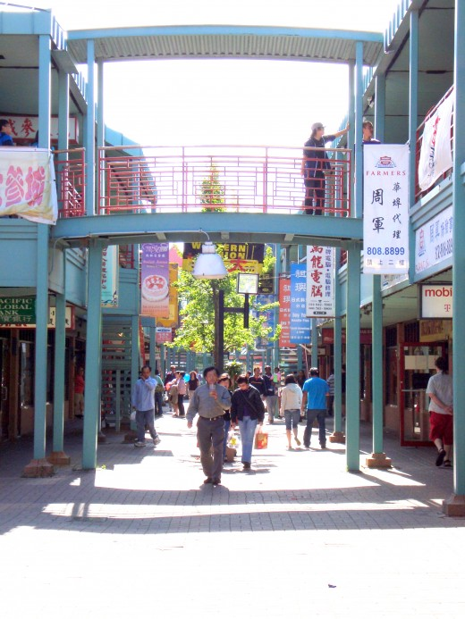 Inside of Chinatown Square
