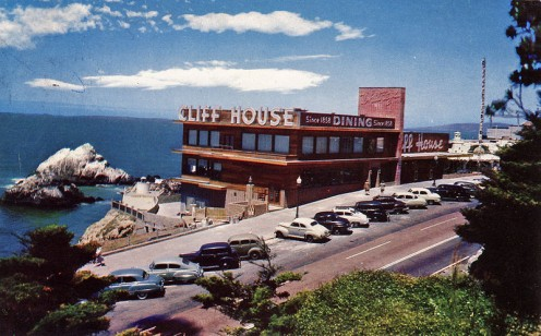 Postcard of the Cliff House Restaurant.
