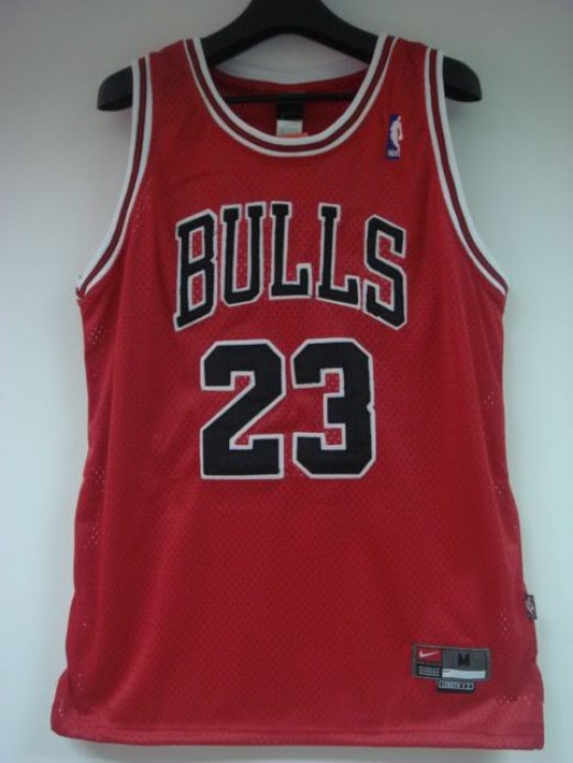 Jersey of his Airness Michael Jordan of the Chicago Bulls.