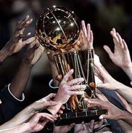 The elusive NBA championship trophy.