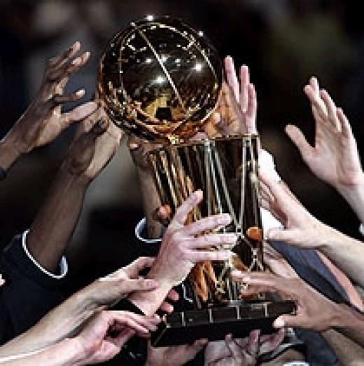 The elusive NBA championship trophy.