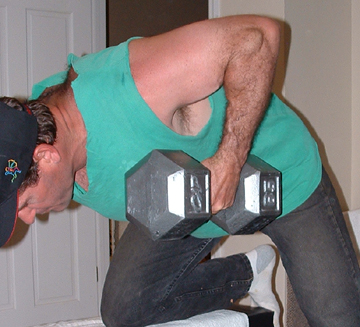 End your bent over row like this