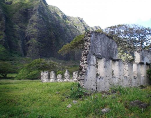 This is a shot taken from Kamehameha Highway near Ko'olauloa Ranch of the sugar mill ruins. Copyright Ruth Elayne Kongaika