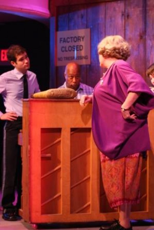Mature Actress in a community theater production.