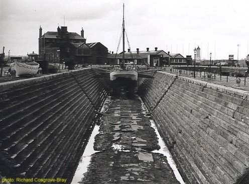 Repairs in a Liverpool dry dock; circa. 1985.