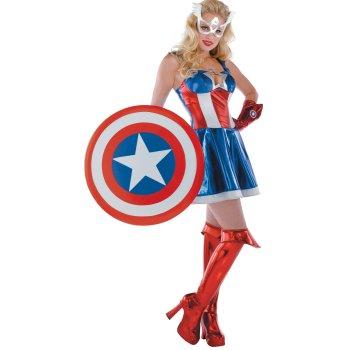 Sexy Captain America Sassy Prestige Adult Costume