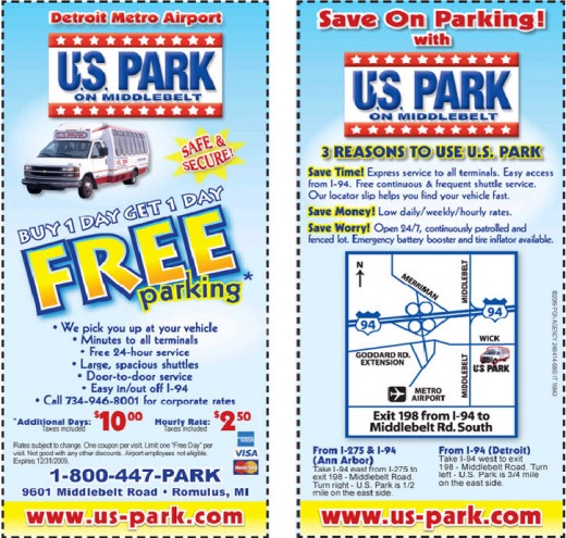 DTW US Park coupon