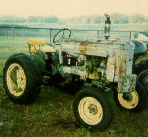 My younger brother plowed our cornfields.  He was barely big enough to reach the pedals while LEANING on the seat. At eight years old he plowed a straight row!  Tourists on the highway would often do a take-back because they could not see him driving