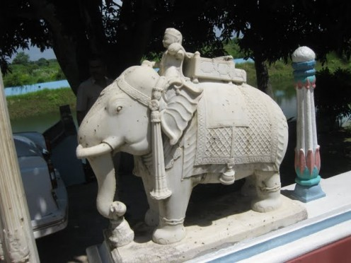 Marble elephant out side Torandwar