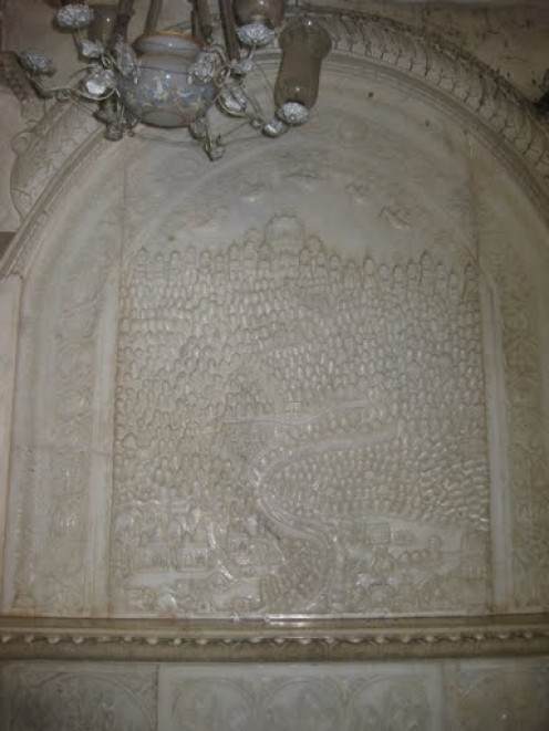 Shatrunjay Teerth (Palitana) Marble Patta in side temple