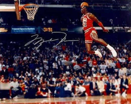 Jordan glides like an eagle while taking off near the free throw line for a poster perfect slam that netted him the Slam dunk trophy and hearts of the fans.