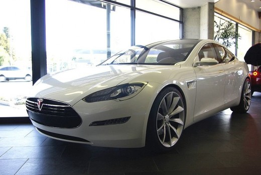 Tesla Model S three quarter view
