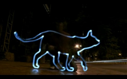 Light Painting - Eveready Ultima - Cat Chasing the Mouse Commercial