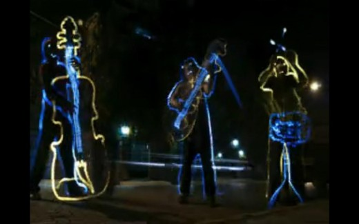 Eveready Ultima - Light Painting - People playing musical instruments