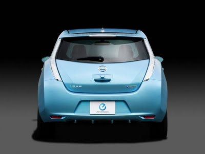 Nissan Leaf. Rear View.