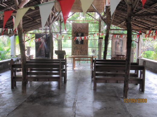 The makeshift Chapel