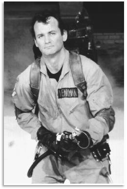 "Bill Murray in ""Ghost Busters"""