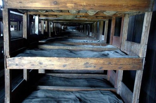 Three - story beds in a prison (photos public domain).