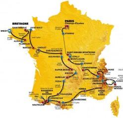 2009 tour De France Route