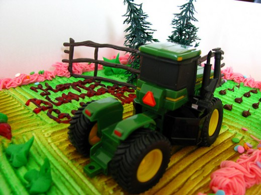 Edible John Deere Cake Toppers