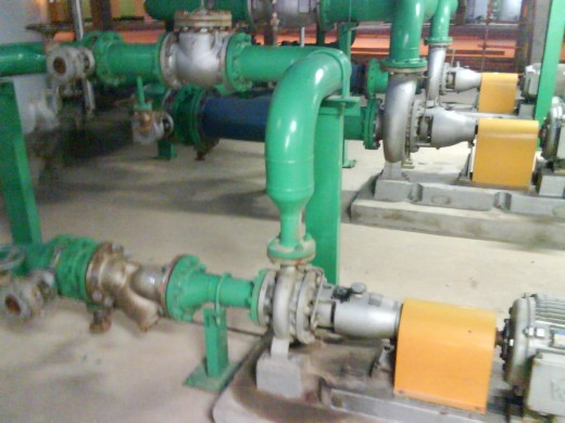 Figure 1:  A typical pump and its piping