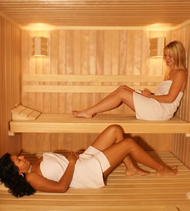 Inside A Home Sauna Kit with Assistants