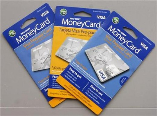 Picture of a Walmart Money Card Prepaid Credit Card Packaging