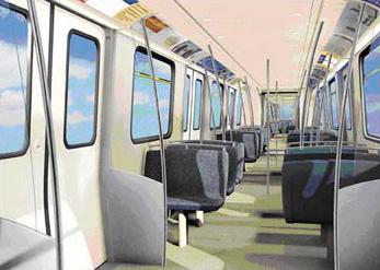 Dubai metro inside train
