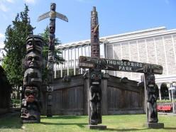 Thunderbird Park at the Royal Museum, Victoria BC Canada.