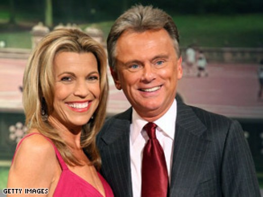 """Wheel of Fortune"" game show hosts: Pat Sajak and Vanna White"