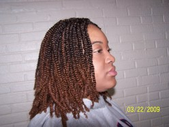 Two strand twist with synthetic hair