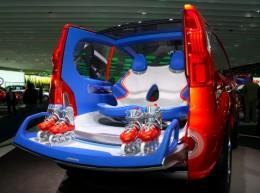 Renault Kangoo BeBop rear facing seats