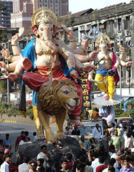 Ganapathy Idols During Vinayak Chathurthi in Mumbai, India