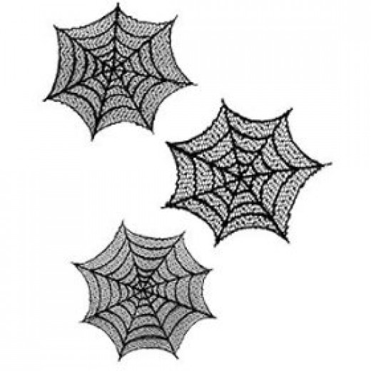 spider web window decorations