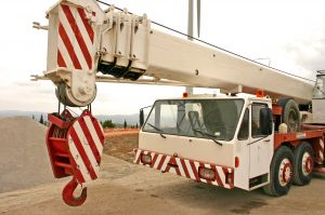 In a process plant, heavy vehicles, like this crane, are used frequently for lifting heavy loads.