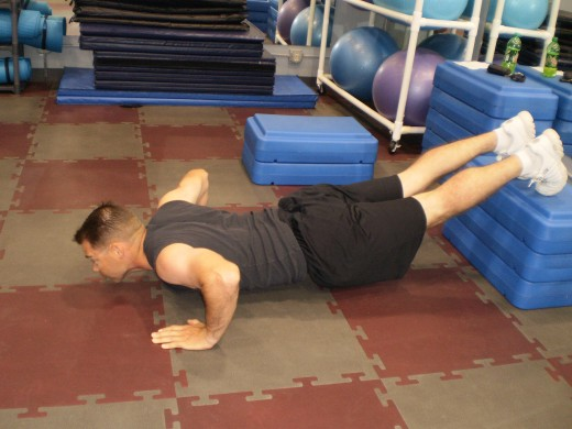 The Elevated Push-up down