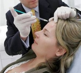 Botox for curing wrinkles and enhancing beauty.